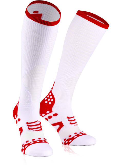 Compressport Ultralight Racing Full Socks Ironman Edition White